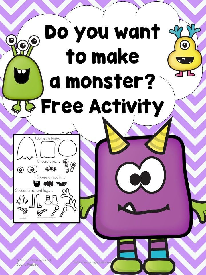 Early Learning Activity Make A Monster Educational Fun