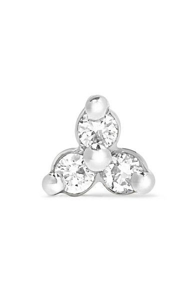 18-karat White Gold Diamond Earring - one size Maria Tash