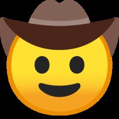 Cowboy Hat Face On Google Android 8 0 Cowboy Hats Emoji Hat Cowboy