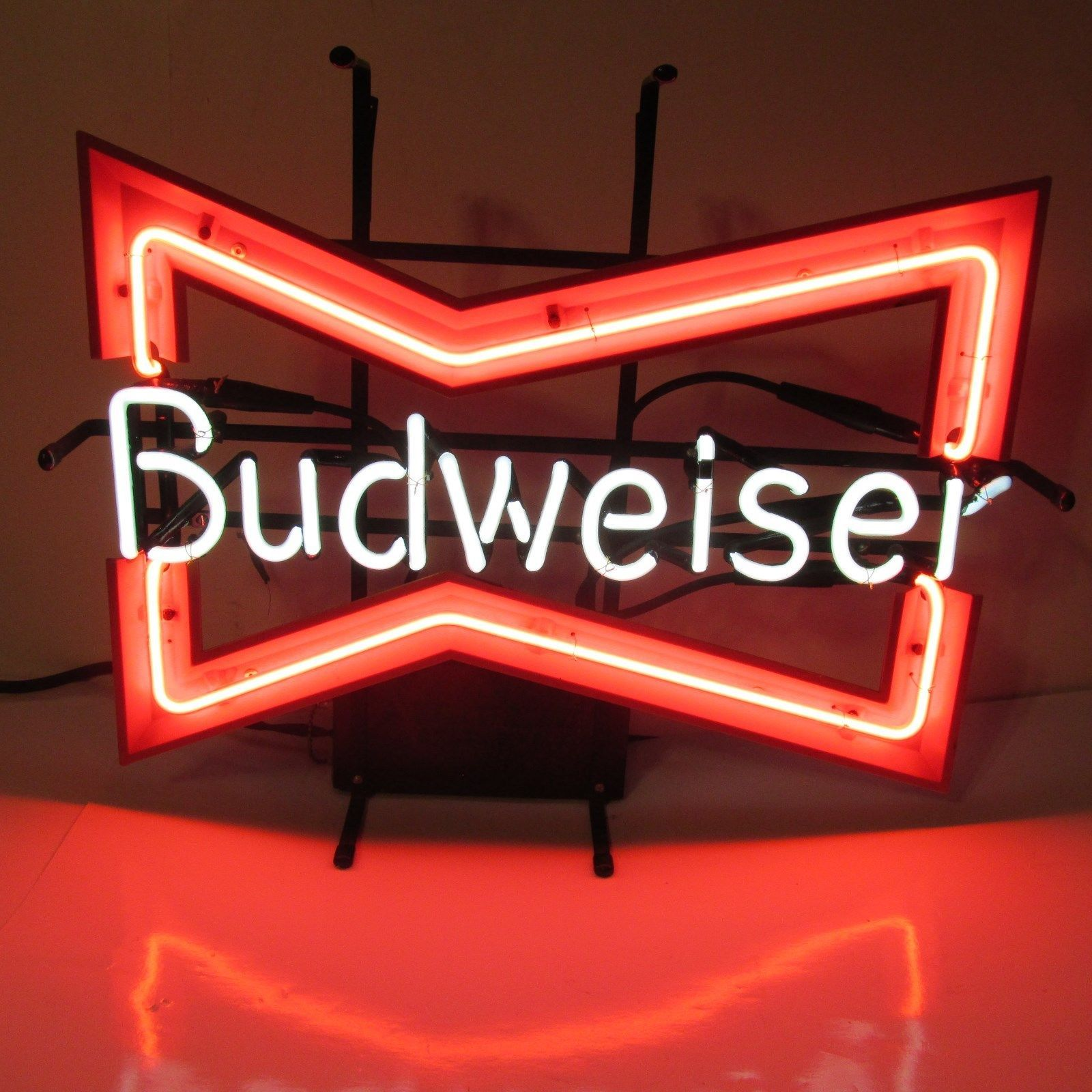 Vtg budweiser beer neon light sign original bud bar