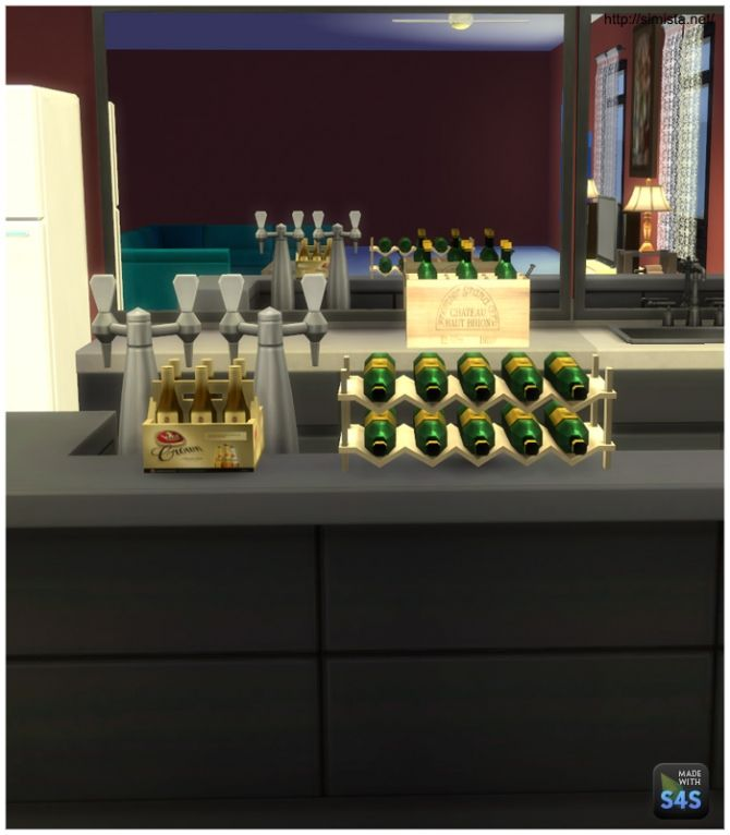 Bar deco at simista via sims 4 updates sims 4 for Deco appartement sims 4