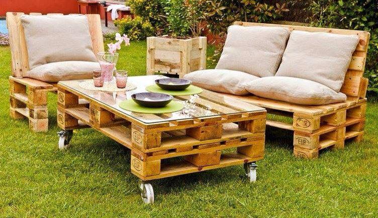 Pretty recycling garden furniture