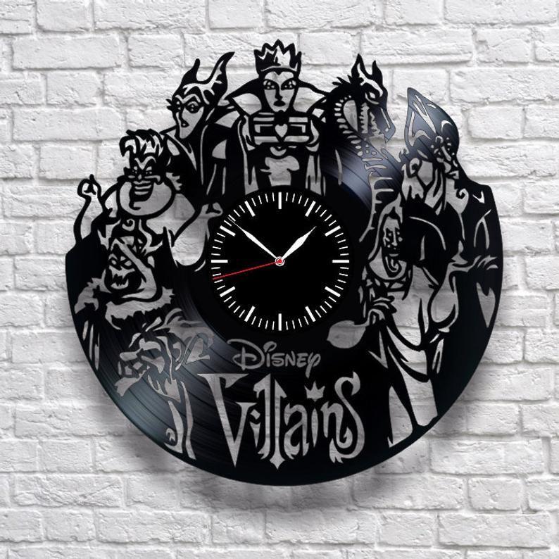 Disney Wall Clock Villains World Best Friend Gift Unique Clock