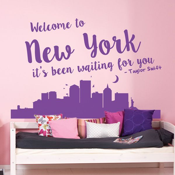 Taylor Swift Welcome To New York Lyrics Quote Wall Sticker Available From  Vunk Wall Stickers Www Part 52