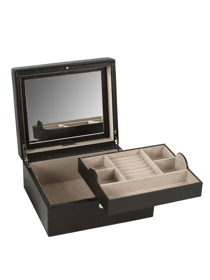London Square Cocoa Jewelry Box by Wolf Designs Inc A Place for