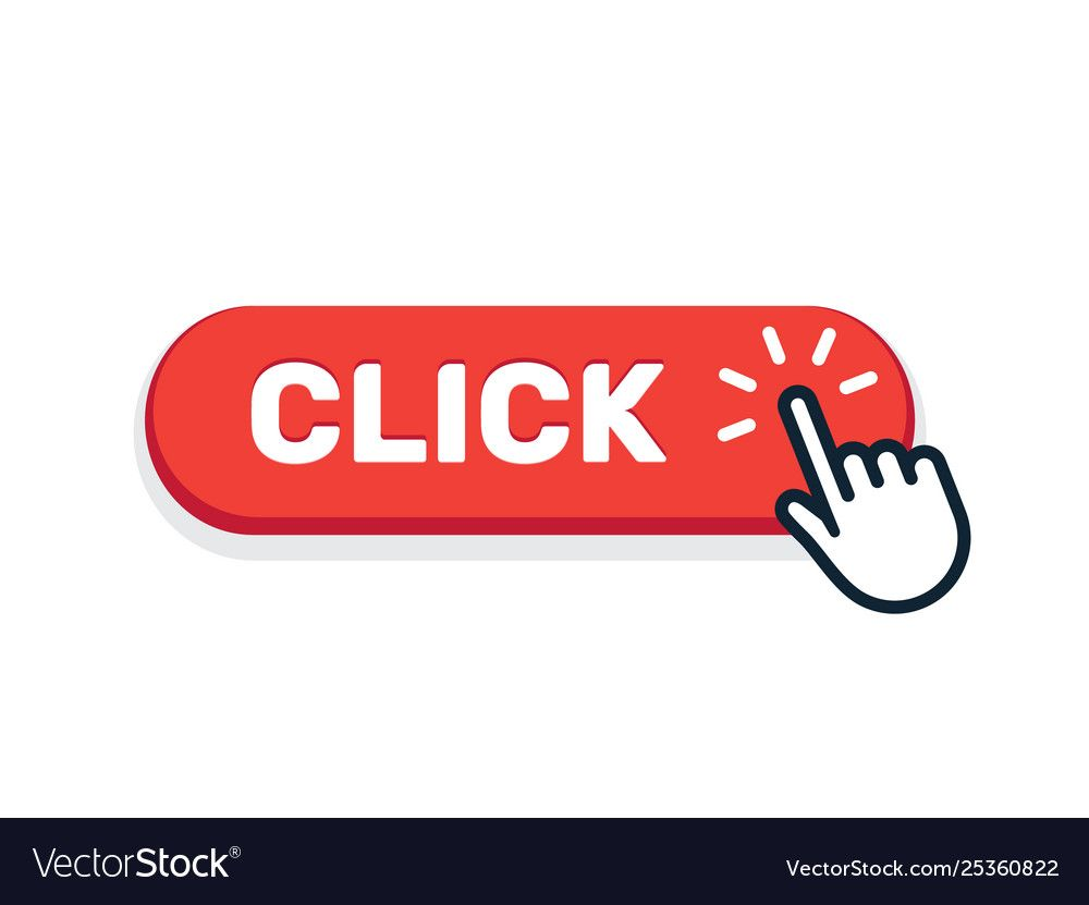 Click Here Button With Hand Icon Click Web Vector Image Sponsored Hand Icon Click Button Ad Banner Ads Design Vector Free Banner Ads