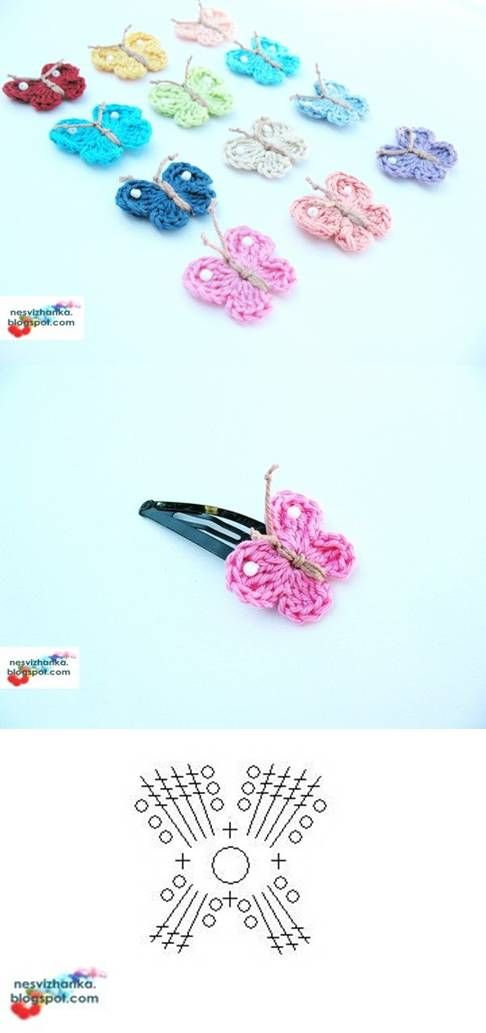 gehäkelter Schmetterling | basar | Pinterest | Häkeln schmetterling ...