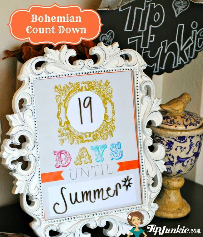 Bohemian Count Down Template instant download by Tip Junkie Tip