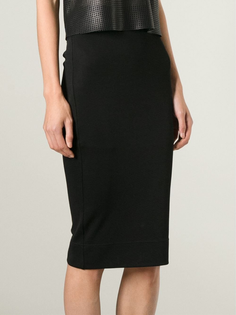Helmut Lang Lateral Skirt Smets Farfetch Com Pencil Skirt Skirts Fitted Pencil Skirts