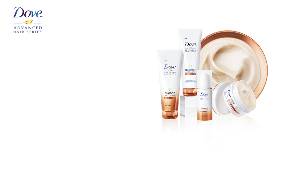 NEW Dove Quench Absolute for dry, coarse, curly hair