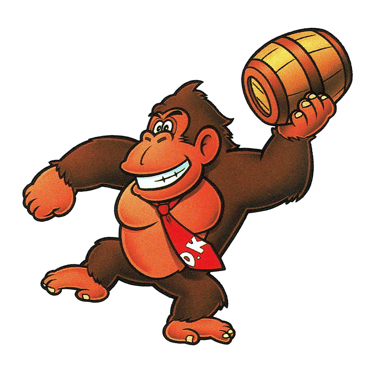 Thevideogameartarchive Donkey Kong 94 Is The First Game Where Dk Got His Tie Here He Is About To Throw Barrels The Video Game Art Archive Support Us On