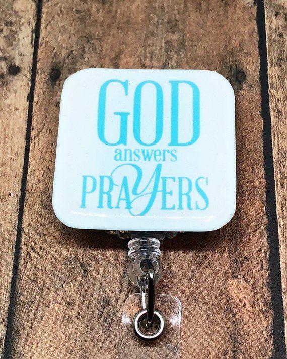 God Answer Prayers , Retractable Nursing ID Badge Reels , ID