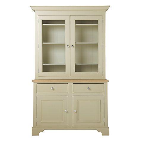 John Lewis Neptune Chichester 4ft Glazed Rack Dresser Limestone