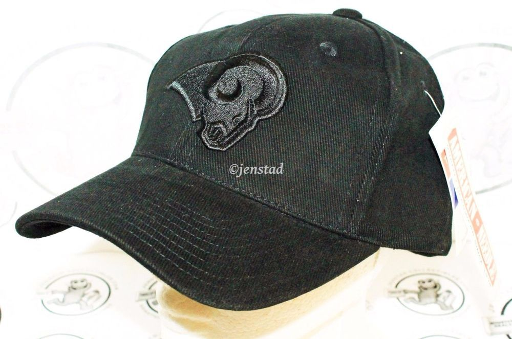 530104318 L.A. OR ST LOUIS RAMS - AMERICAN NEEDLE NFL BLACK TONE TONAL EMBOSS ...