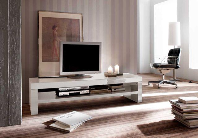 TV - Lowboard Ute Lack Hochglanz weiß 1 x Lowboard TV Kommode