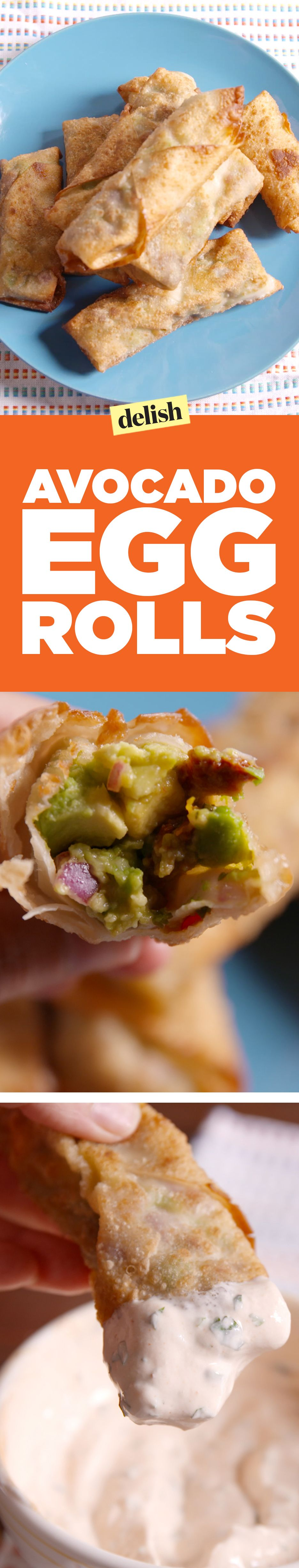 Our avocado egg rolls taste JUST like The Cheesecake Factory. Get the recipe on Delish.com.