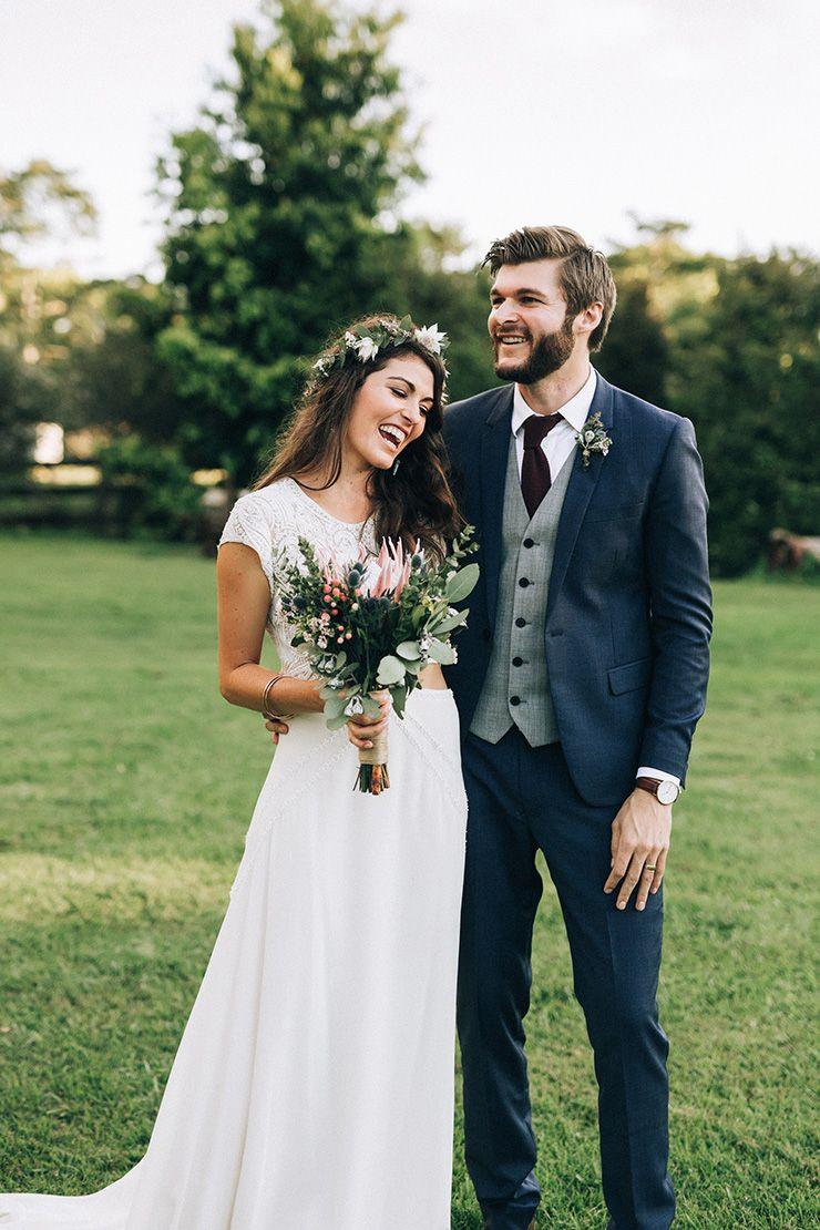 Claire u robbieus boho country wedding with native flowers wedding