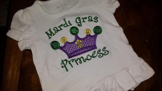 Mardi Gras Princess Shirt FREE SHIPPING by SouthernBlingBowtiqu, $23.00