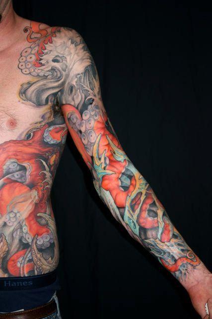 Tattoo by Jeff Gogue | Tattoo - Octopus | Pinterest | Jeff ...