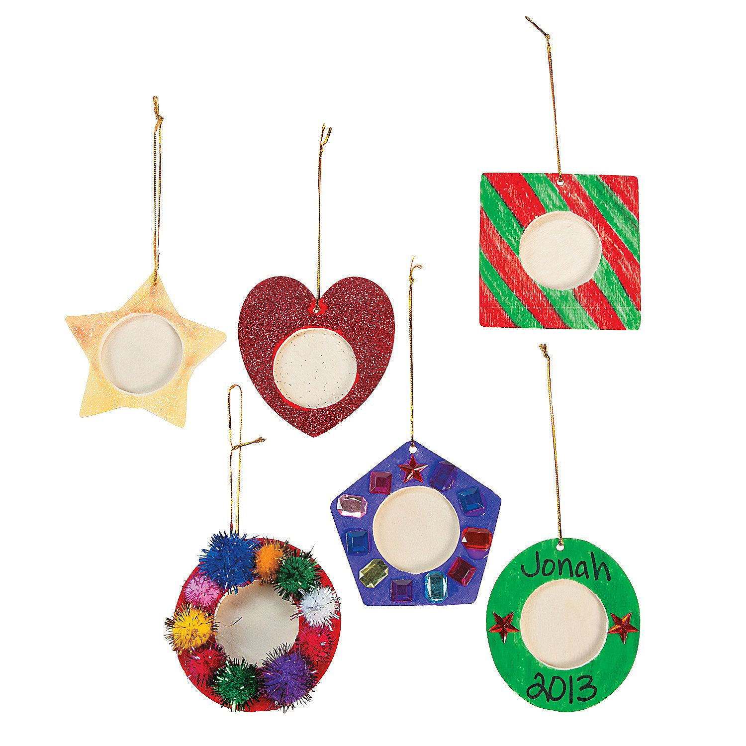 diy photo frame christmas ornaments orientaltradingcom