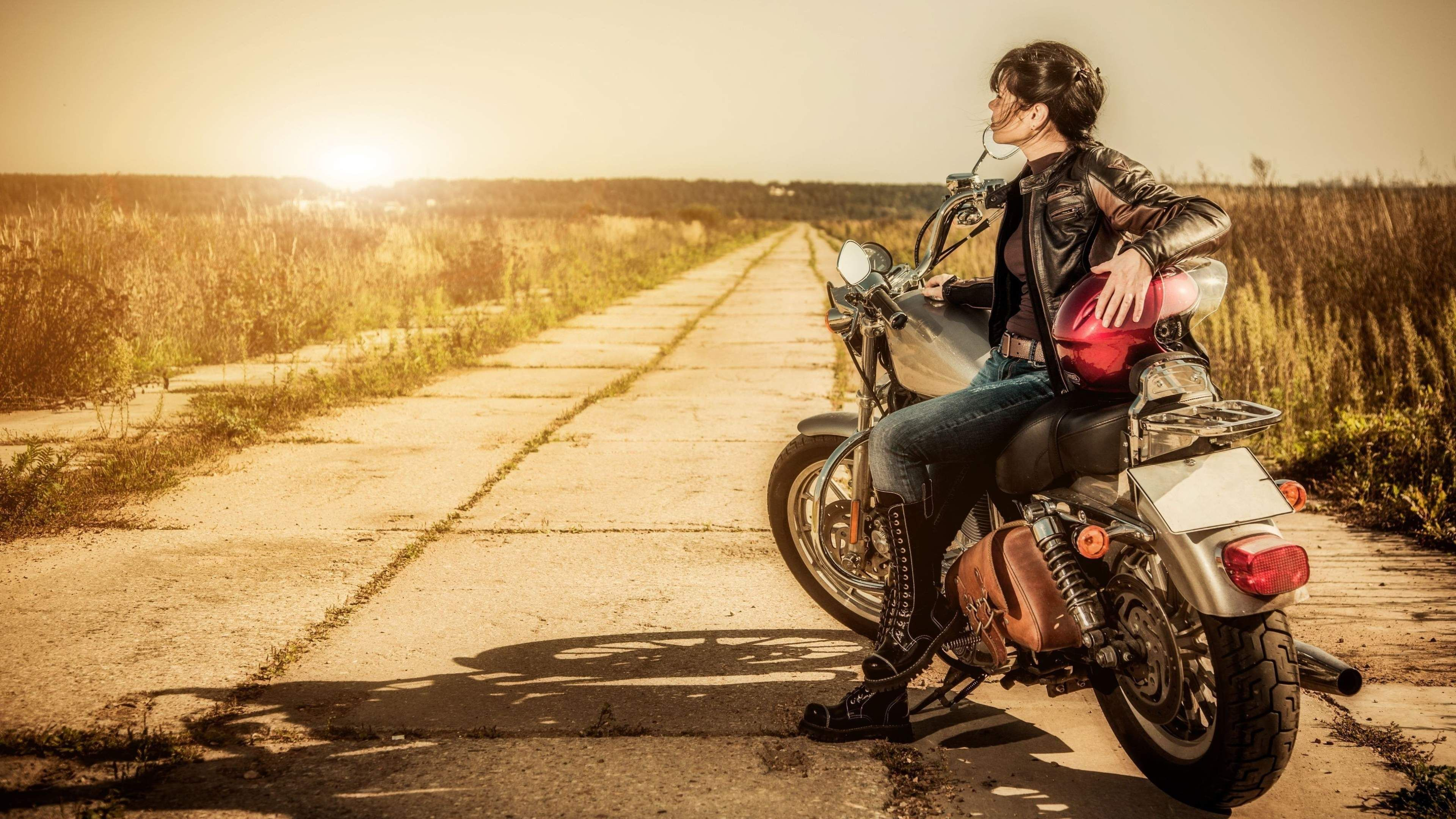 Biker Girl K Wallpaper With Images Female Motorcycle Riders