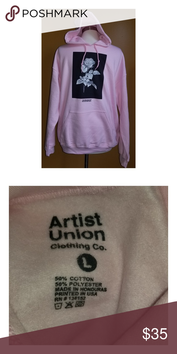 Artist Union Amour Rose Sweatshirt Hoodie Large Brand New Without