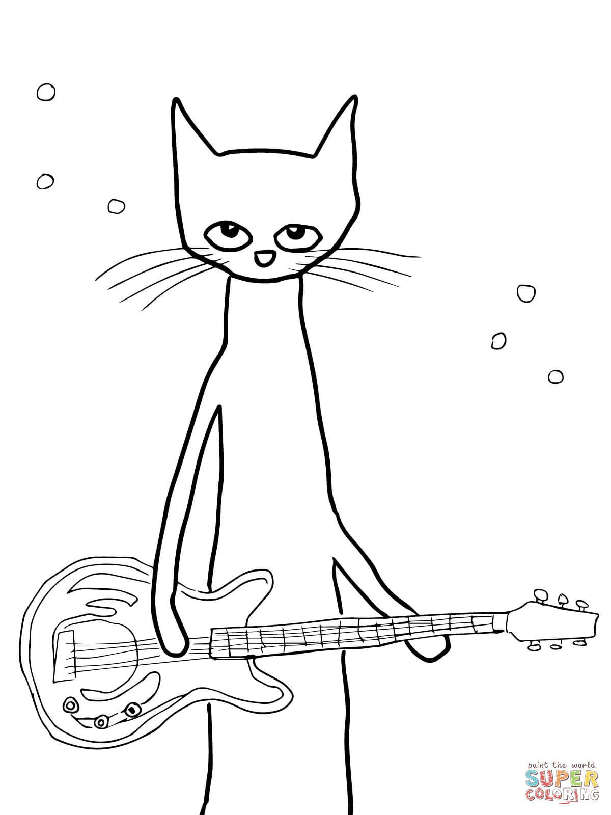 Pete The Cat And His Four Groovy Buttons Coloring Page Youngandtae Com In 2020 Cat Coloring Page Space Coloring Pages Coloring Pages