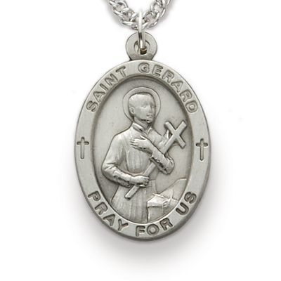 St. Gerard, Patron of Expectant Mothers, Sterling Silver Medal http://www.truefaithjewelry.com/sm8840sh.html