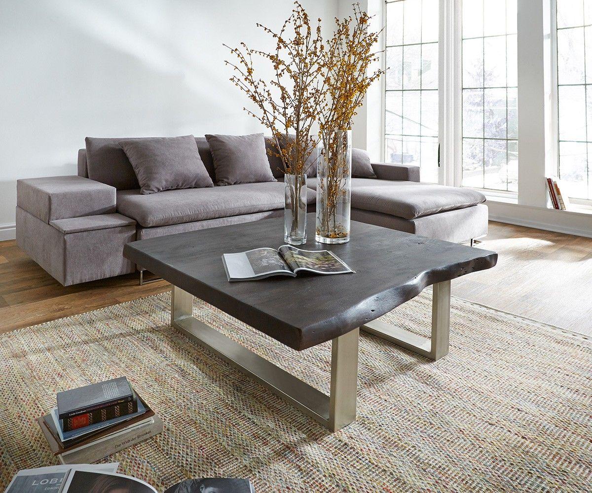 couchtisch tapio 110x110 akazie tabak massiv metallkufen delife deluxe tables pinterest. Black Bedroom Furniture Sets. Home Design Ideas