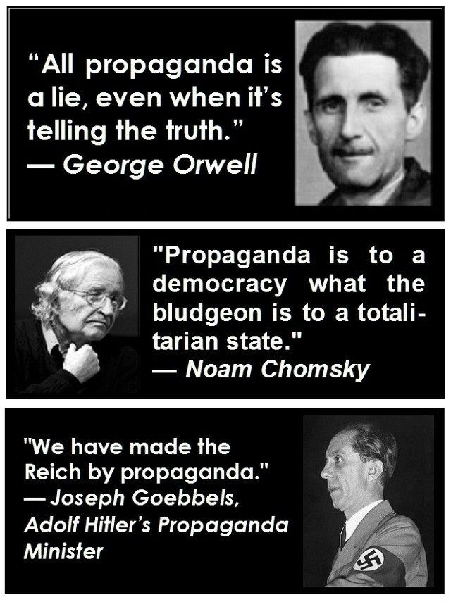 Goebbels Quotes Three Quotes About Propagandageorge Orwell Noam Chomsky .