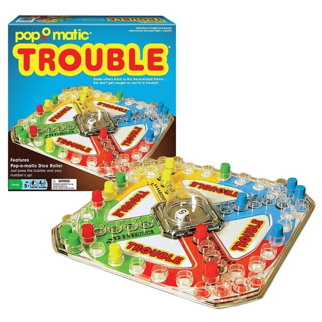The Pop O Matic Classic Trouble Game