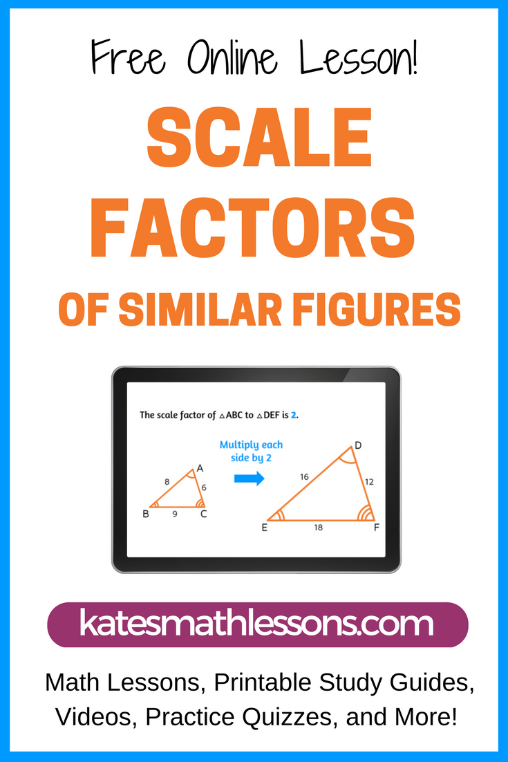How To Find Scale Factors Of Similar Figures Learn Math Online Math Lessons Online Math [ 1102 x 735 Pixel ]