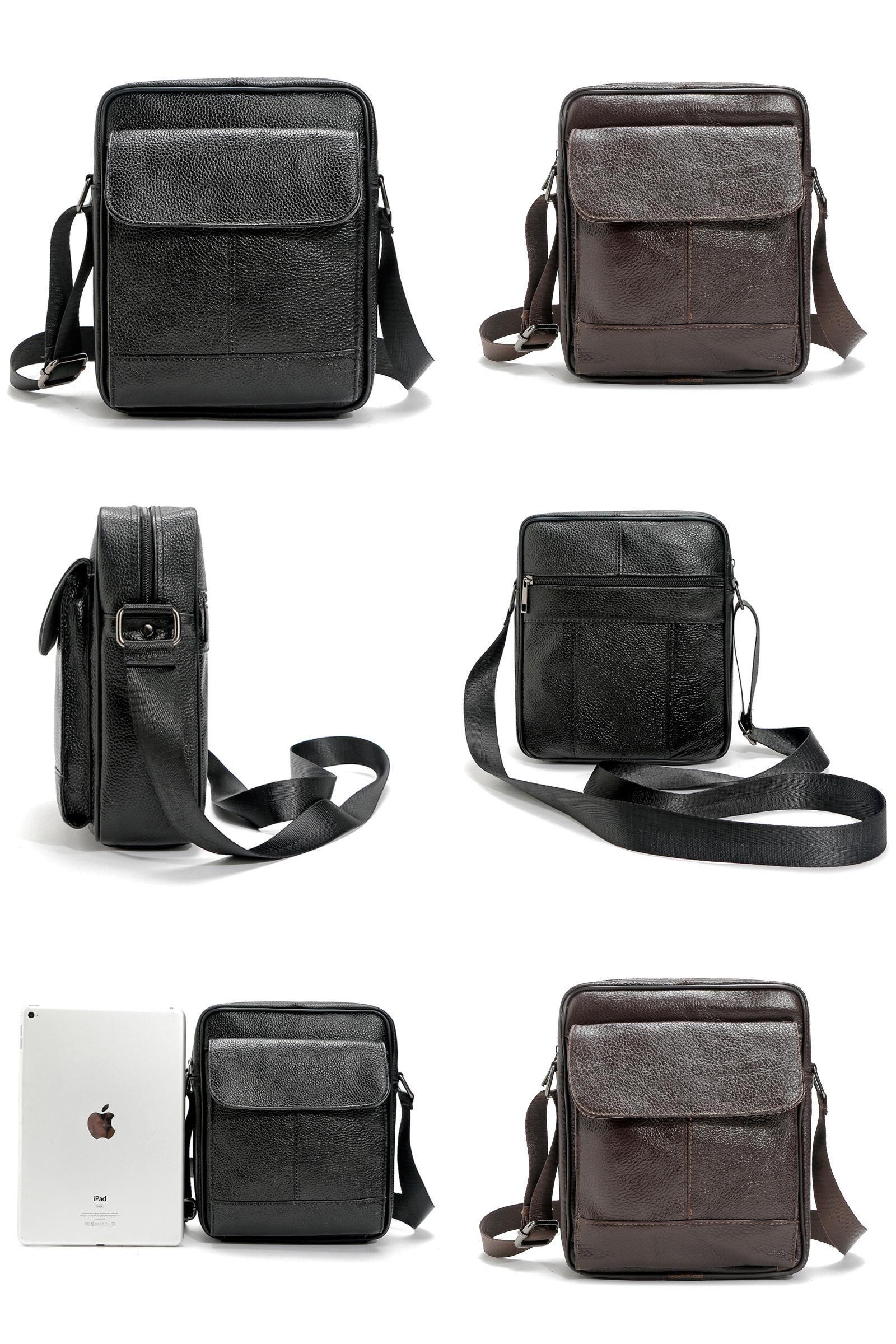 b1ad219f7fe6 [Visit to Buy] Genuine Leather Men Bags Hot Sale ipad Handbags Male  Messenger Bag Man Crossbody Shoulder Bag Men's Travel Bags #Advertisement