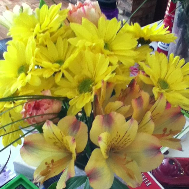 Birthday flowers from Angie