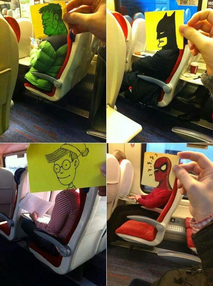 Verveling in de trein.., : )
