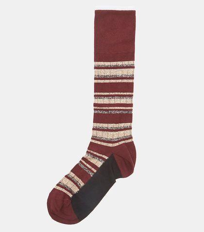 Metallic Striped Cotton-blend Socks - Burgundy Marni Hot Sale Sale Online QO4zVr