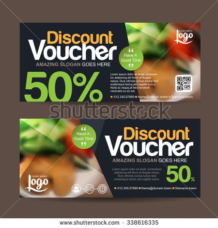 discount voucher template with clean and modern pattern and place