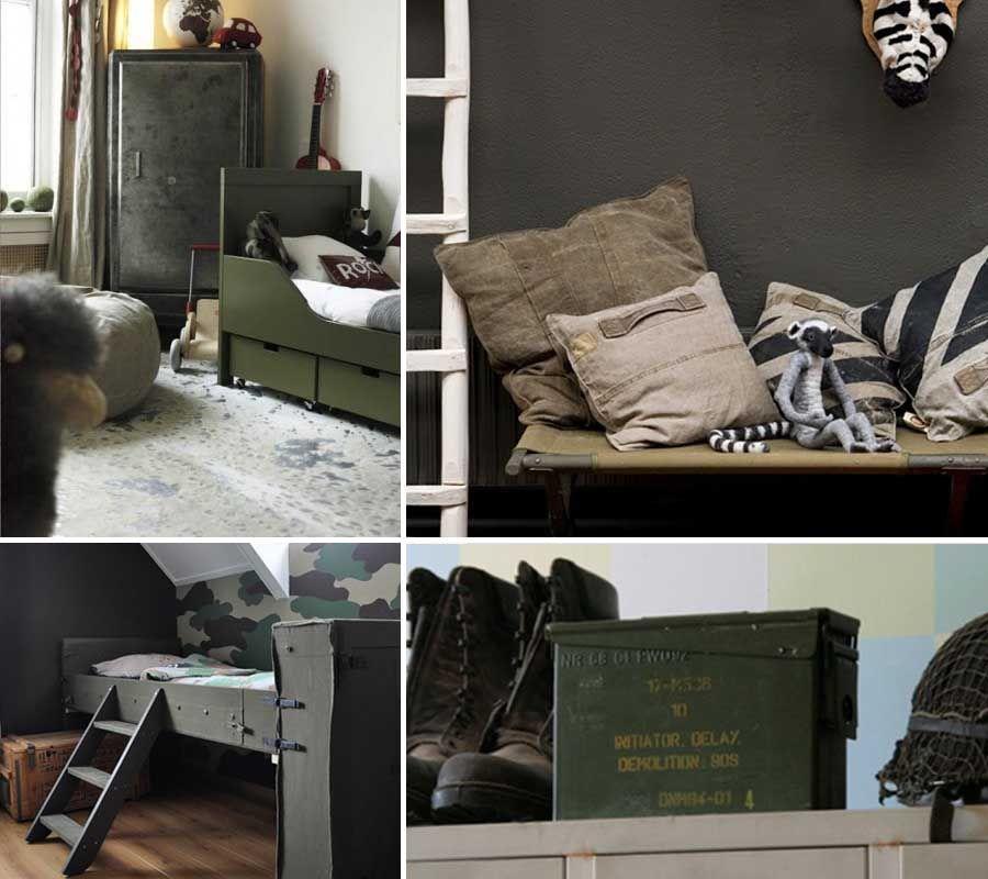 Stoere legerkamer en legerkamer accessoires | Pinterest | Kidsroom ...