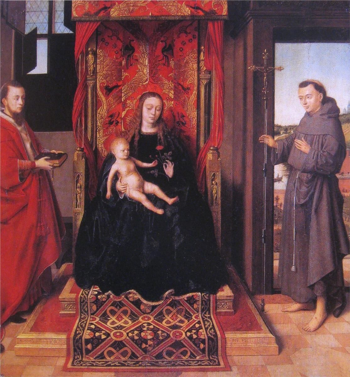 The Virgin and Child in a gothic interior - Petrus Christus