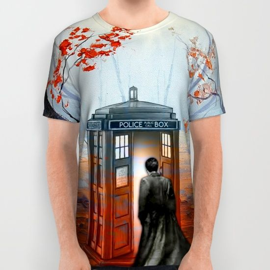 Doctor Who Autumn Art Painting All Over Print Shirt