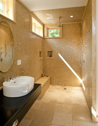 bathroom roman shower design pictures remodel decor and ideas page 3 eclectic hacienda. Black Bedroom Furniture Sets. Home Design Ideas