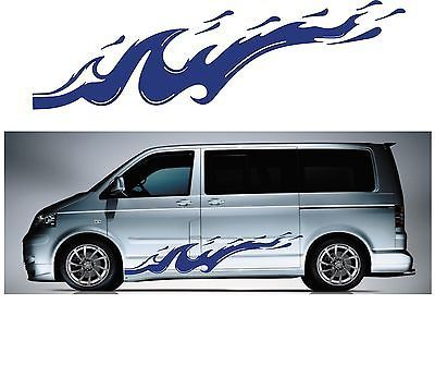 Vw t4 t5 caddy transporter custom surf car van graphics stickers decals x 6 camp • £29 99