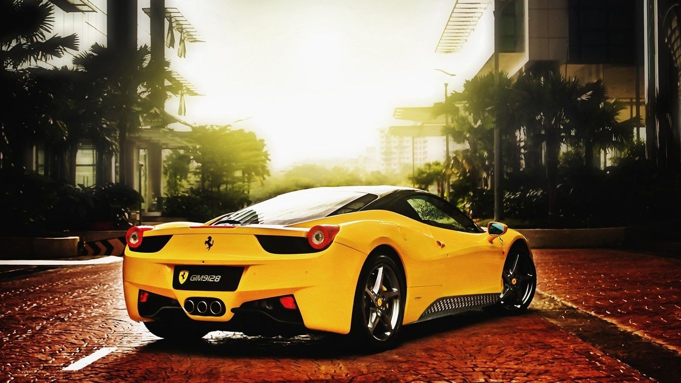 Ferrari Car Of Yellow Color Sports Car Wallpaper Ferrari 458 Italia Car Wallpapers
