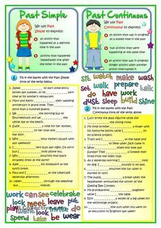 Past Simple Vs Past Continuous English Grammar For Kids Grammar For Kids Teaching English Grammar