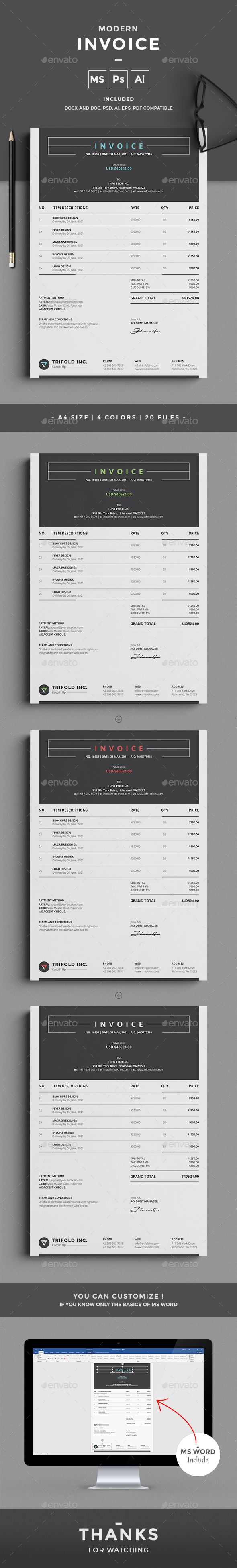 Invoice  Proposals Template And Layouts