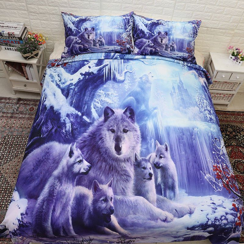 Wolf Photographic Animal Quilt Duvet Cover /& Pillowcase Bedding Bed Set 4 Sizes