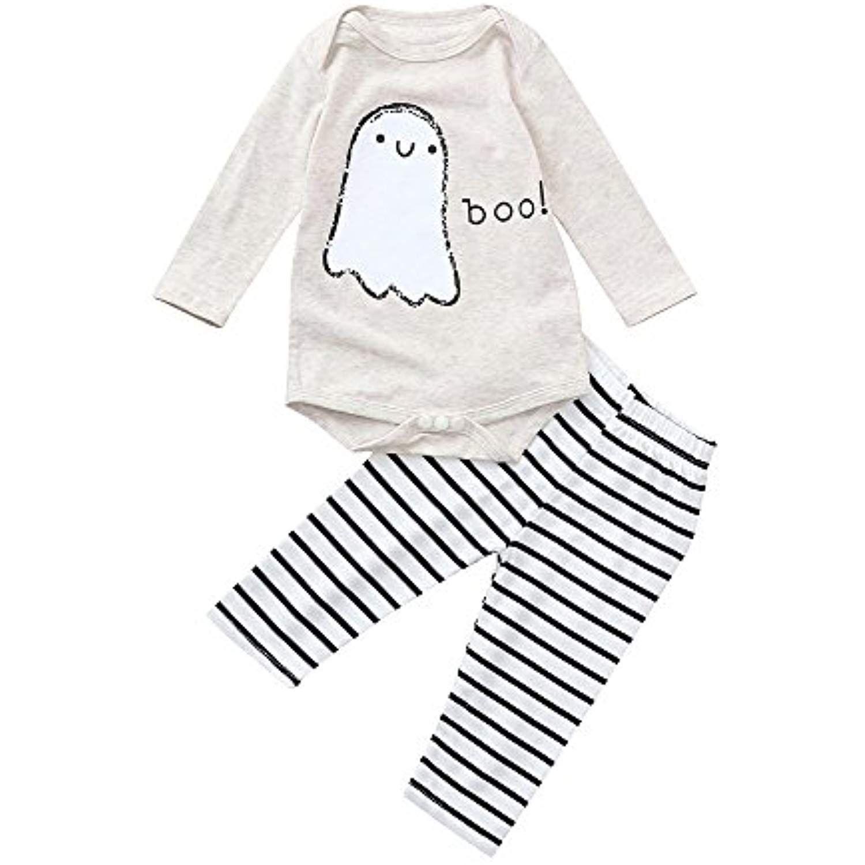 91a5f398f7b38 Toddler Infant Baby Girls Boys Letter Romper Pants Halloween Costume ...