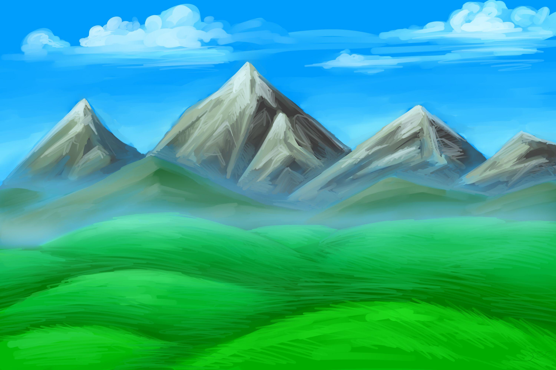 рисуем горы фото решили