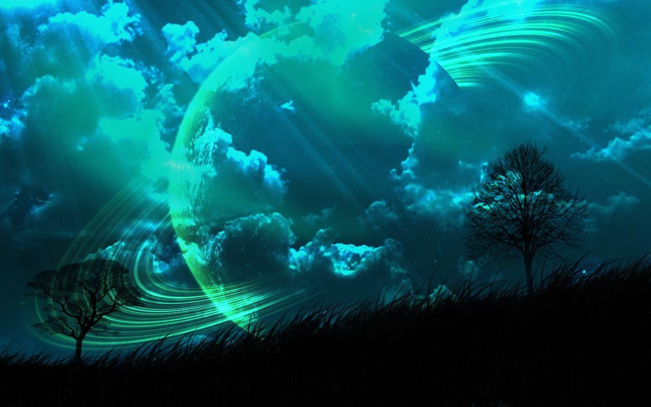 Planets Collide Gambar Luar Angkasa Gambar Seni