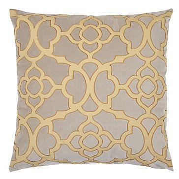 Our Chic Beneito Pillow Combines A Zesty Citrus Cotton Percale Appliqued Design With A Sophisticated Steel Cotton Velvet Pillows Bed Pillows Decorative Pillows